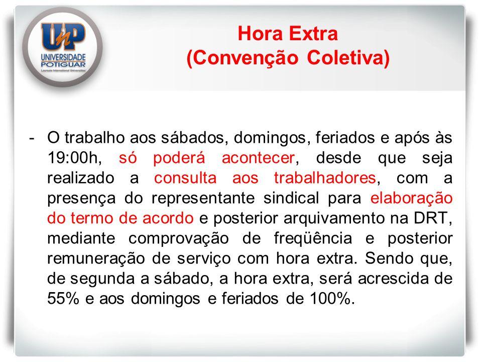 Hora Extra (Convenção Coletiva)