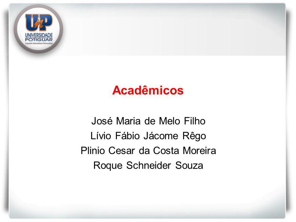 Acadêmicos José Maria de Melo Filho Lívio Fábio Jácome Rêgo