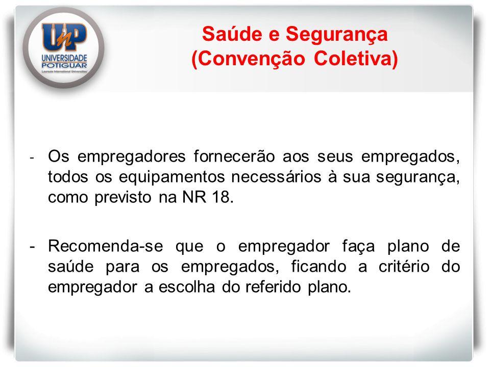 Saúde e Segurança (Convenção Coletiva)