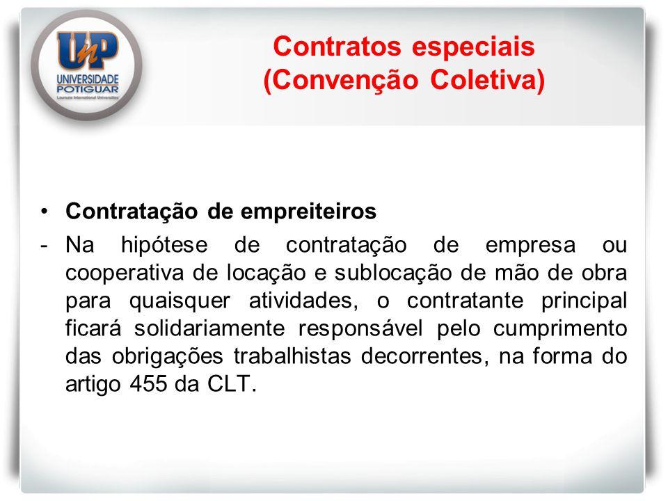 Contratos especiais (Convenção Coletiva)