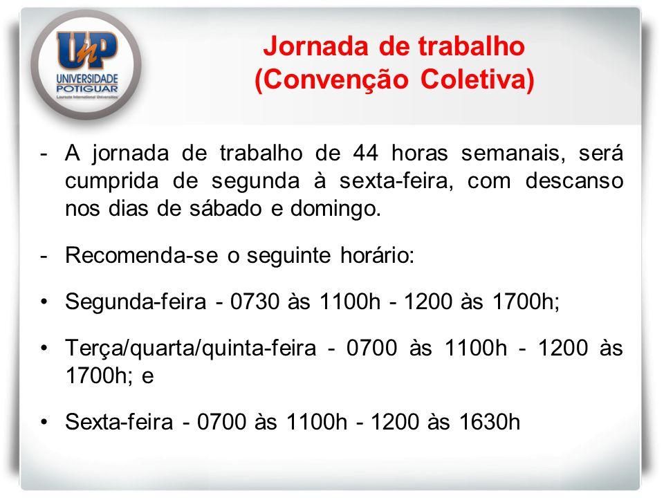 Jornada de trabalho (Convenção Coletiva)