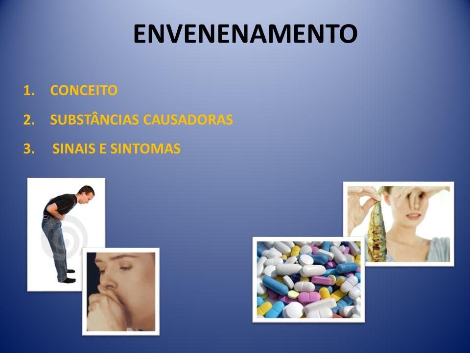 ENVENENAMENTO CONCEITO SUBSTÂNCIAS CAUSADORAS 3. SINAIS E SINTOMAS