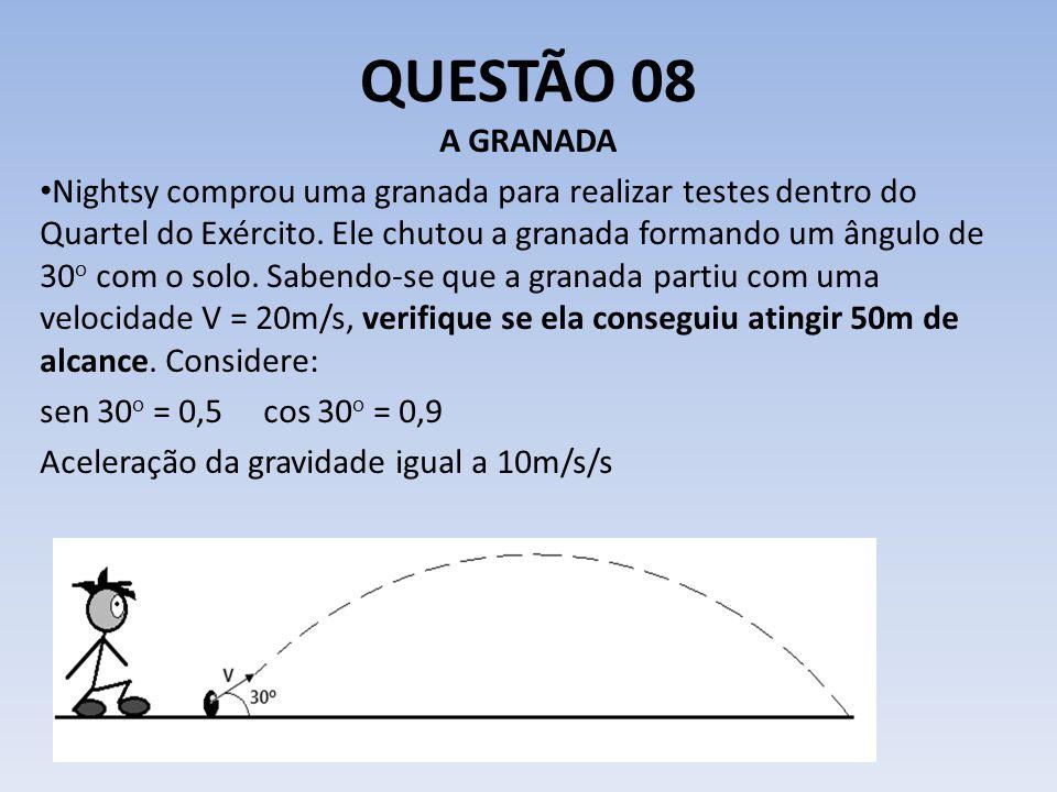 QUESTÃO 08 A GRANADA.