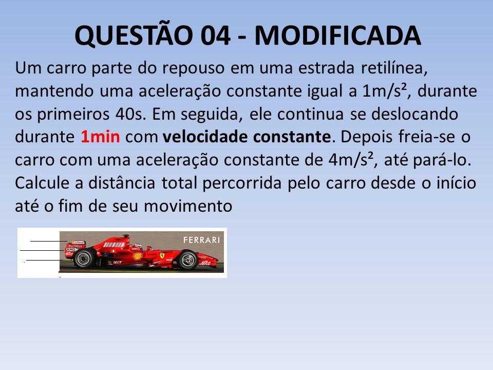 QUESTÃO 04 - MODIFICADA