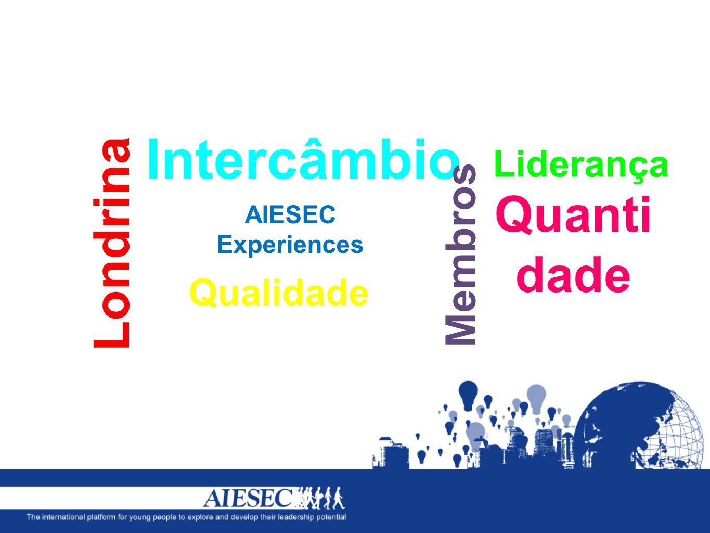 Intercâmbio Londrina Quantidade Membros Liderança Qualidade AIESEC
