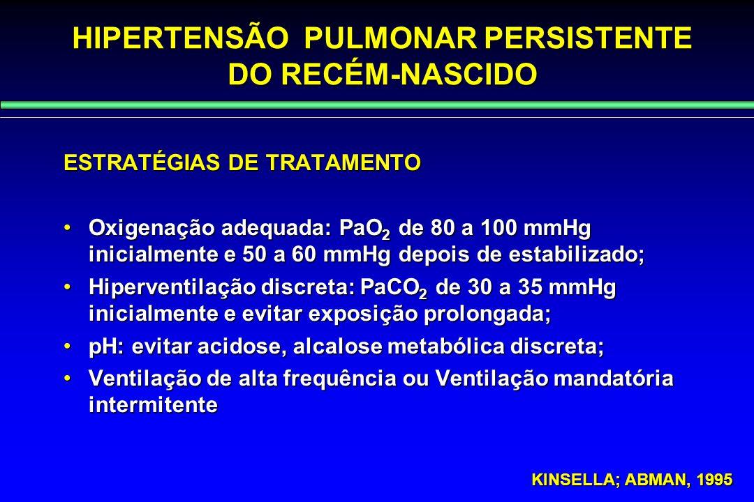 HIPERTENSÃO PULMONAR PERSISTENTE DO RECÉM-NASCIDO
