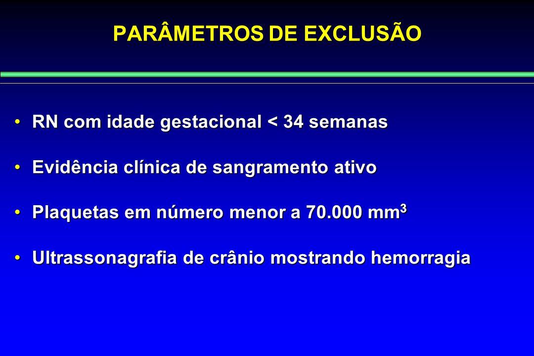PARÂMETROS DE EXCLUSÃO