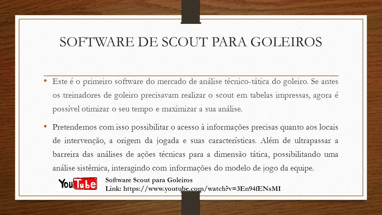 SOFTWARE DE SCOUT PARA GOLEIROS