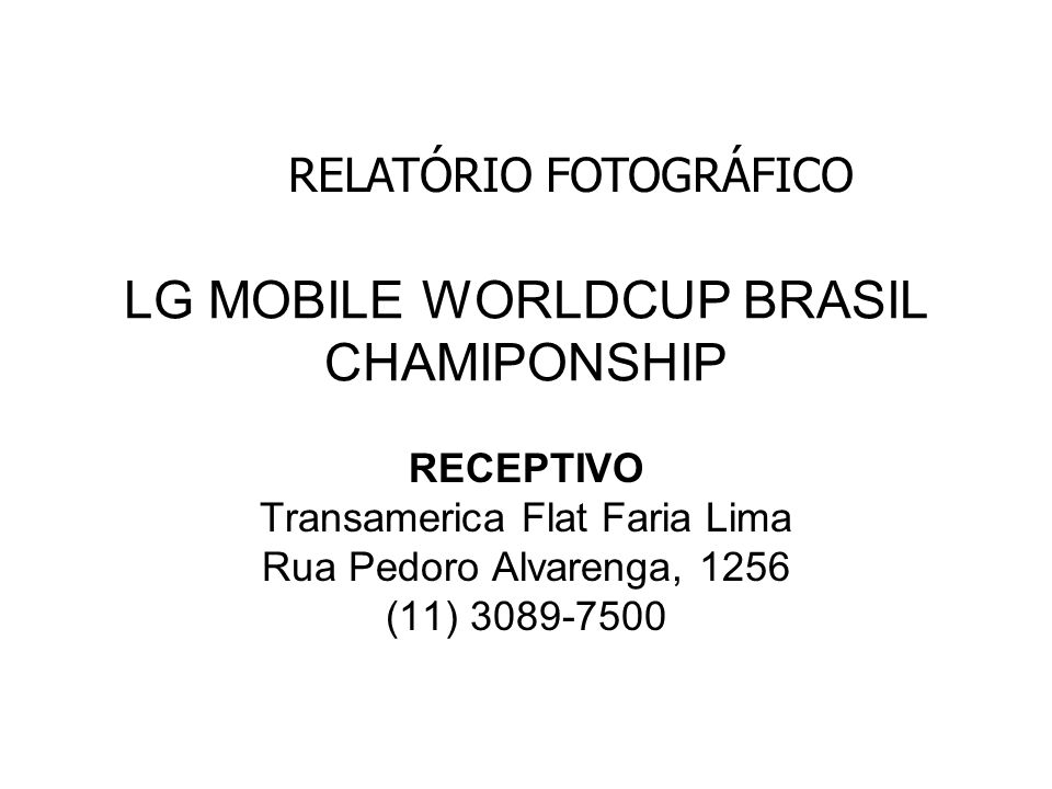 LG MOBILE WORLDCUP BRASIL CHAMIPONSHIP