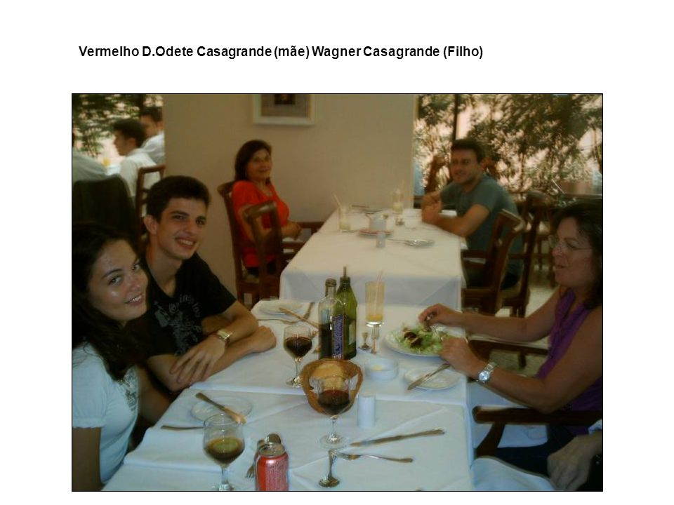 Vermelho D.Odete Casagrande (mãe) Wagner Casagrande (Filho)
