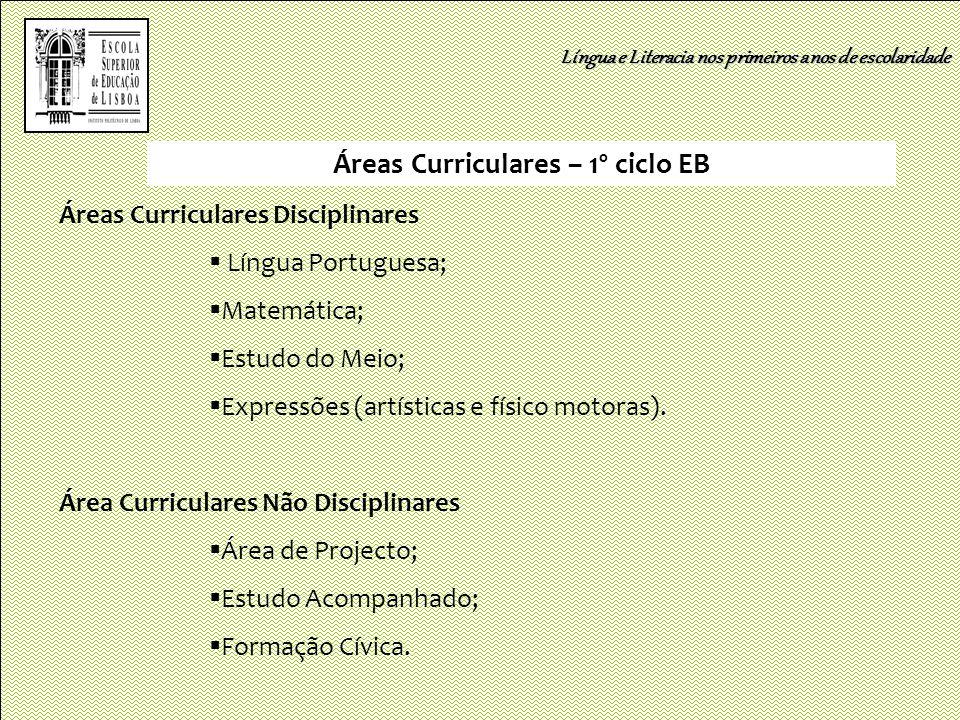 Áreas Curriculares – 1º ciclo EB