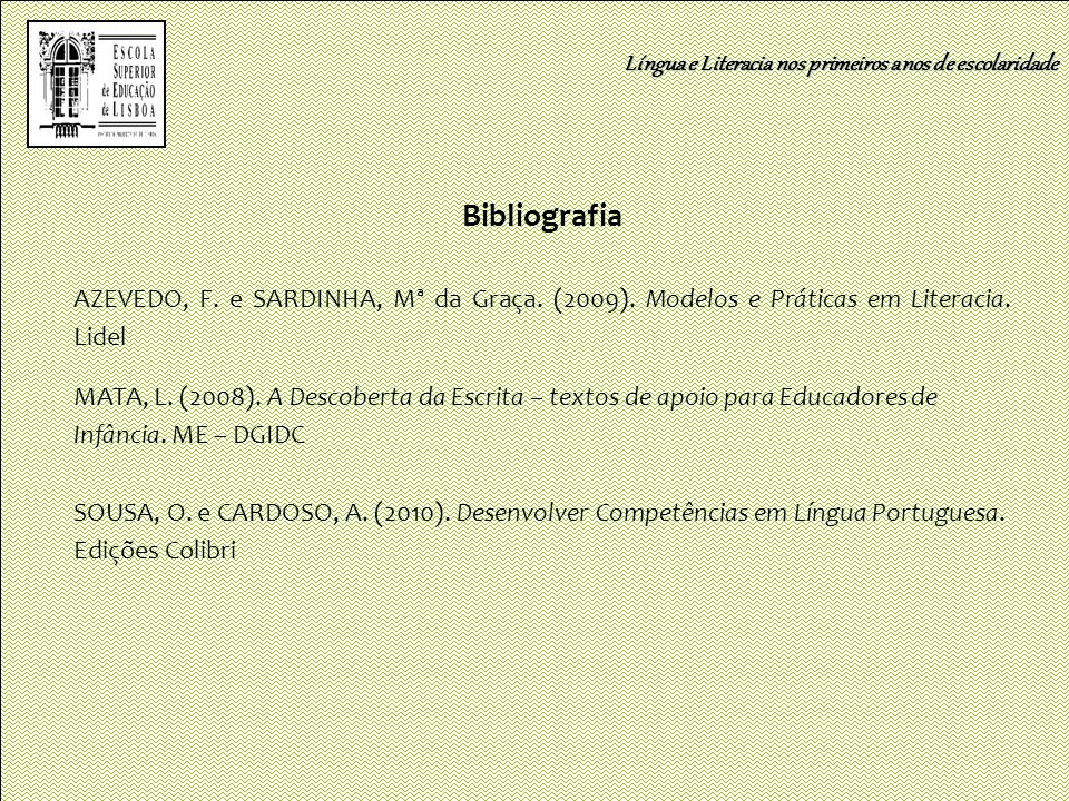 Bibliografia Língua e Literacia nos primeiros anos de escolaridade