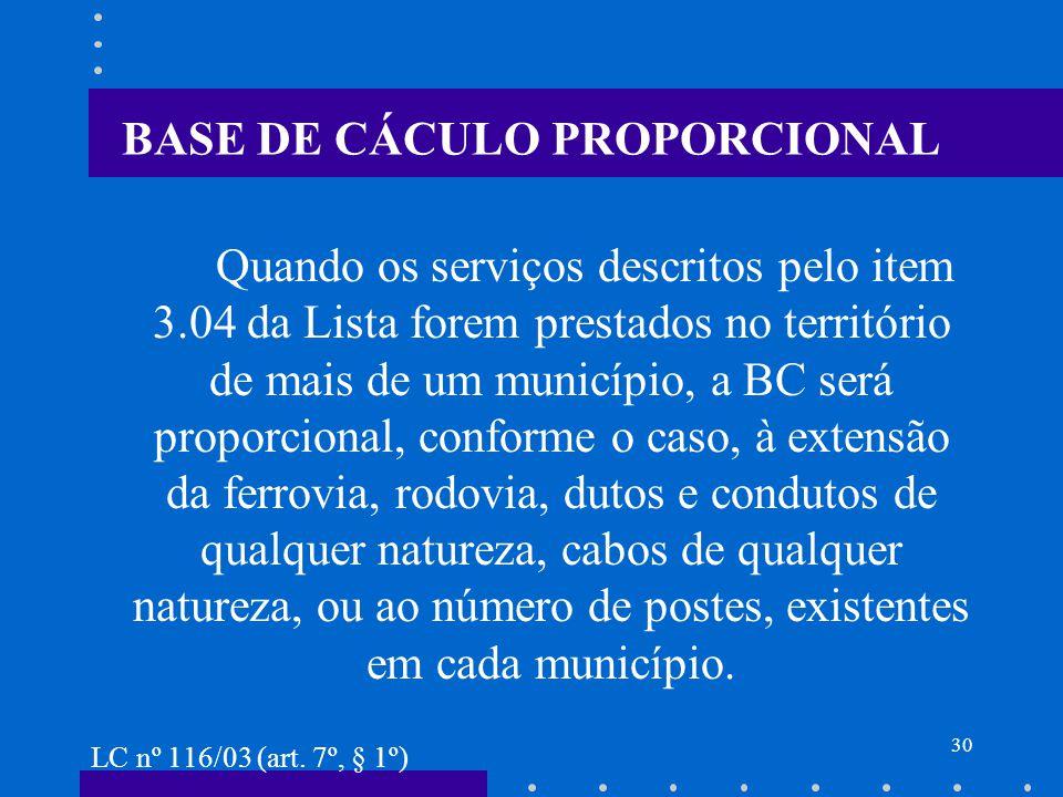 BASE DE CÁCULO PROPORCIONAL