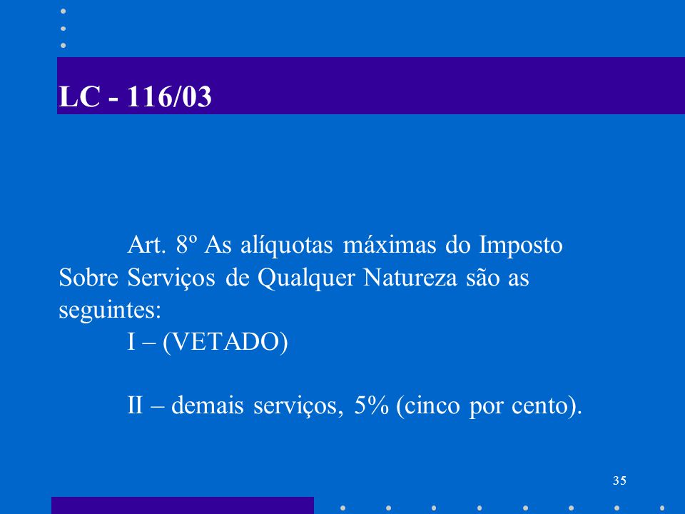 LC - 116/03 Art.