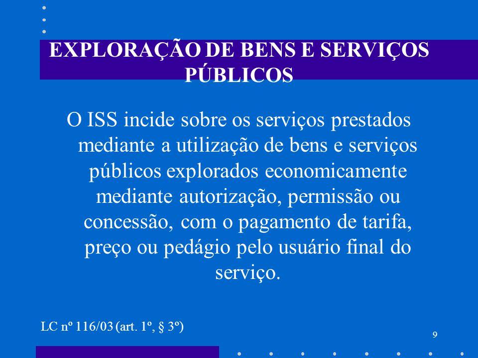EXPLORAÇÃO DE BENS E SERVIÇOS PÚBLICOS
