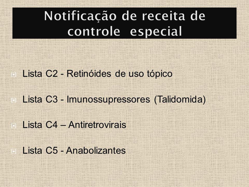 Notificação de receita de controle especial