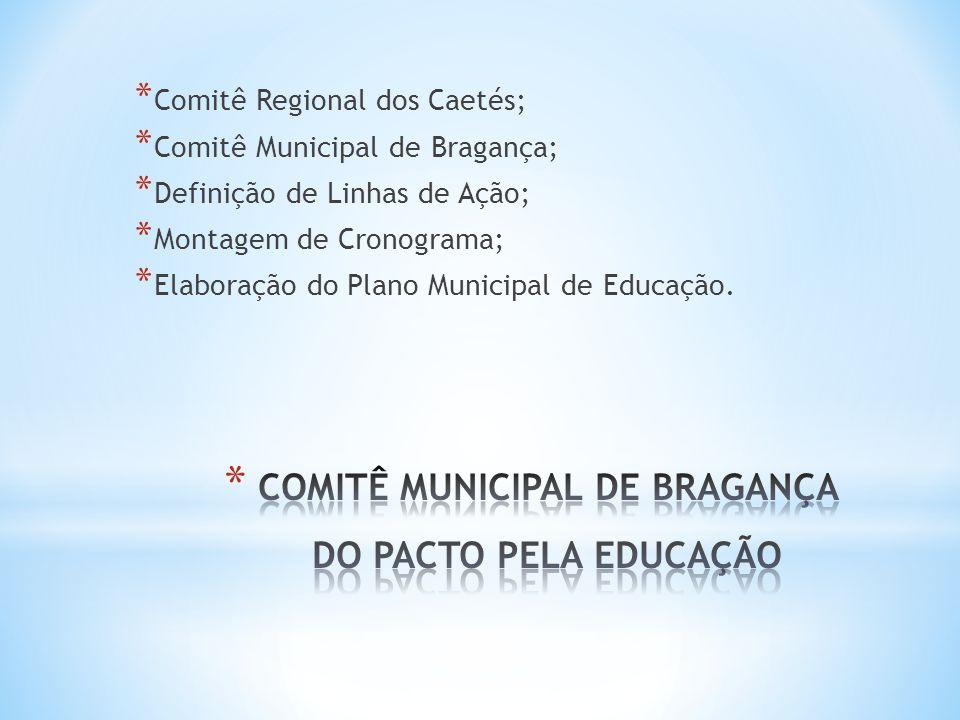 COMITÊ MUNICIPAL DE BRAGANÇA DO PACTO PELA EDUCAÇÃO