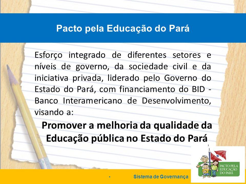 Promover a melhoria da qualidade da Educação pública no Estado do Pará