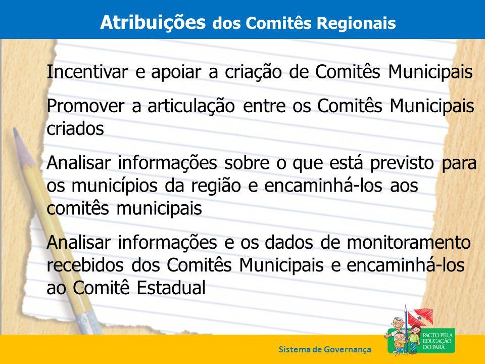 Atribuições dos Comitês Regionais