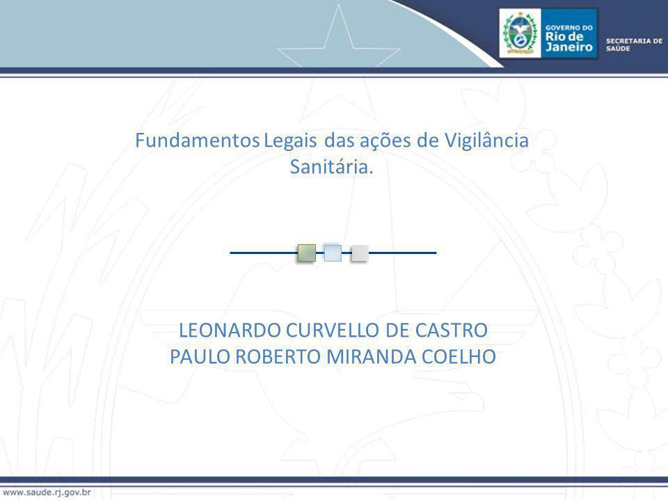 Fundamentos Legais das ações de Vigilância Sanitária.