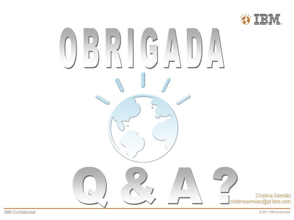 OBRIGADA Q&A Cristina Semião cristinasemiao@pt.ibm.com