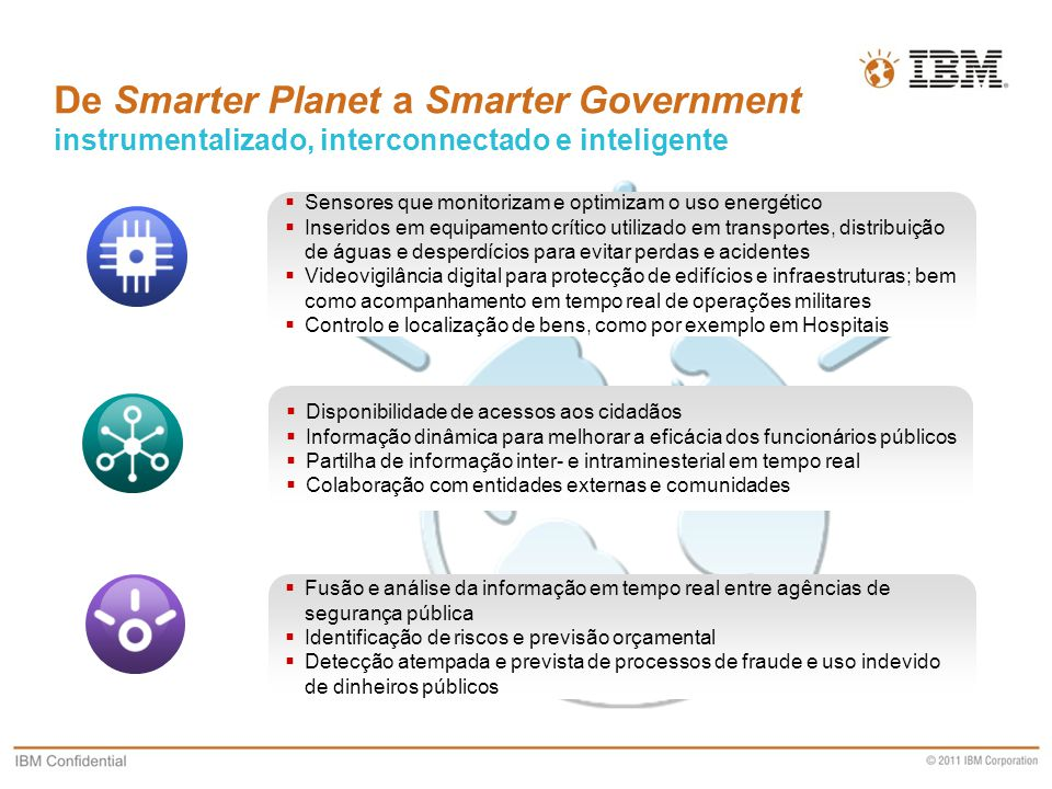 De Smarter Planet a Smarter Government instrumentalizado, interconnectado e inteligente