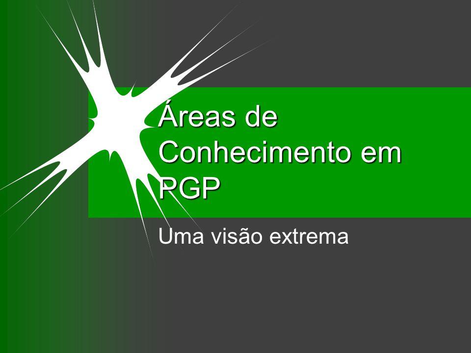 Áreas de Conhecimento em PGP