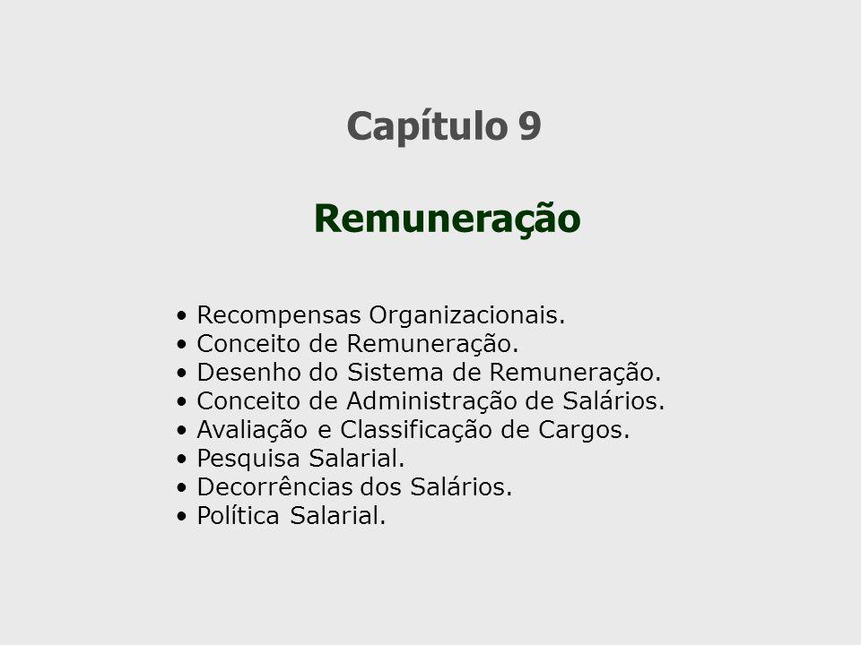 Capítulo 9 Remuneração Recompensas Organizacionais.