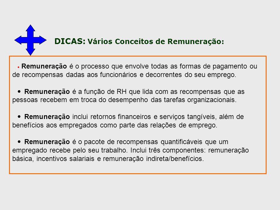 DICAS: Vários Conceitos de Remuneração: