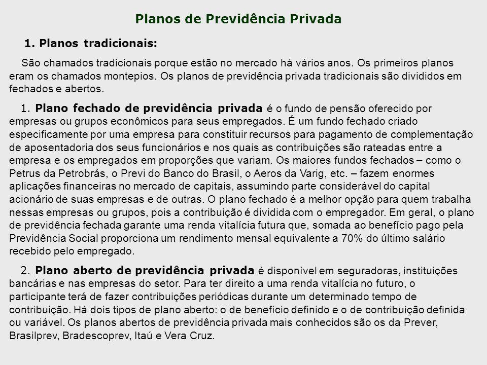 Planos de Previdência Privada