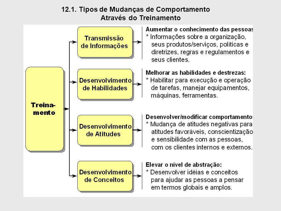 12.1. Tipos de Mudanças de Comportamento