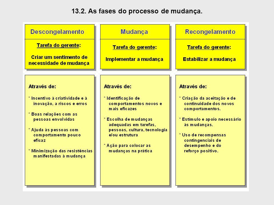 13.2. As fases do processo de mudança.