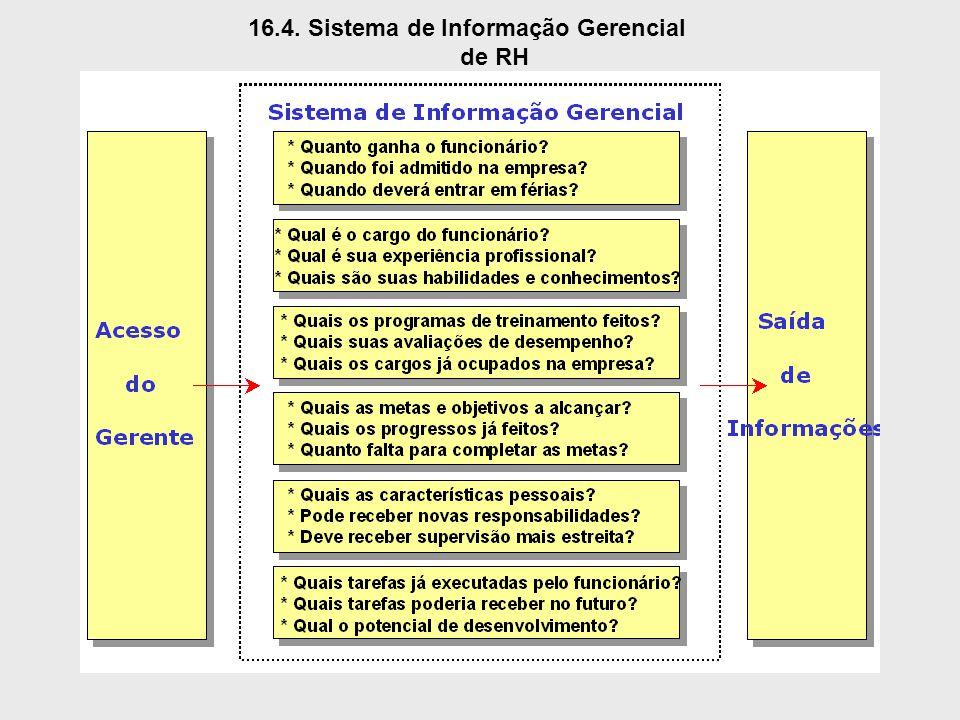 16.4. Sistema de Informação Gerencial