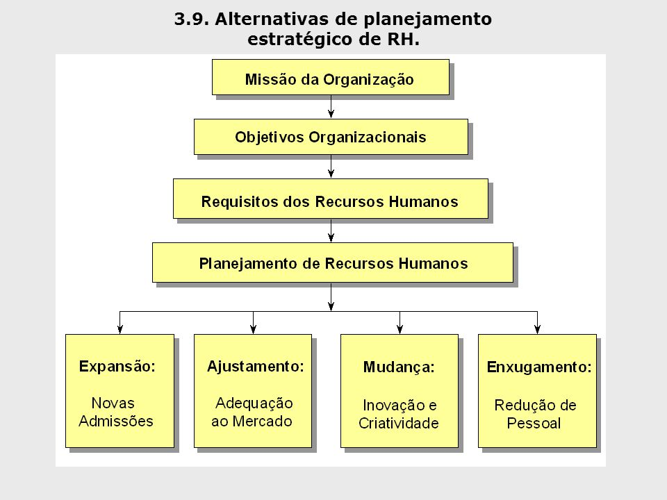 3.9. Alternativas de planejamento