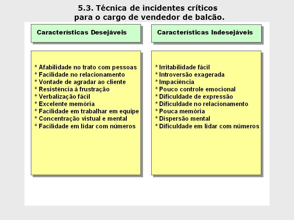 5.3. Técnica de incidentes críticos