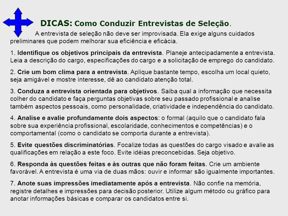 DICAS: Como Conduzir Entrevistas de Seleção.