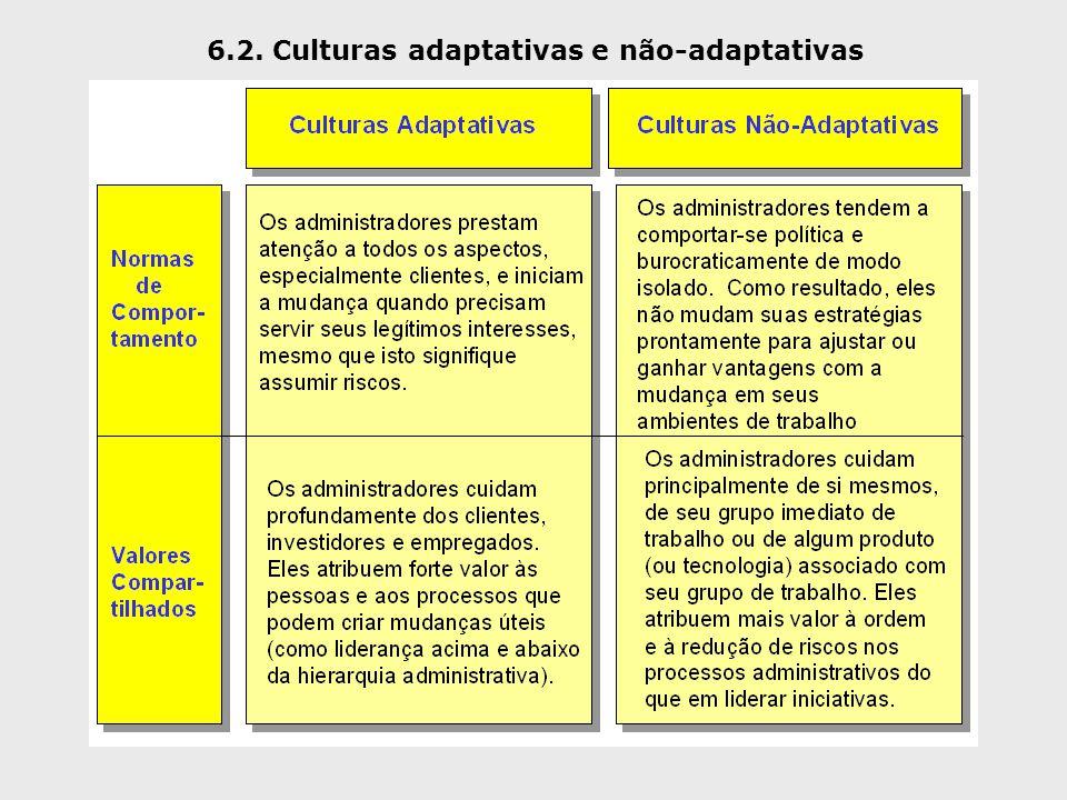6.2. Culturas adaptativas e não-adaptativas