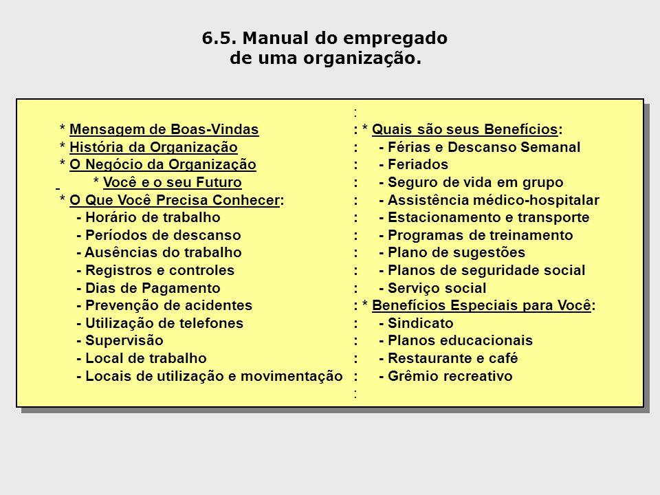 6.5. Manual do empregado de uma organização. :