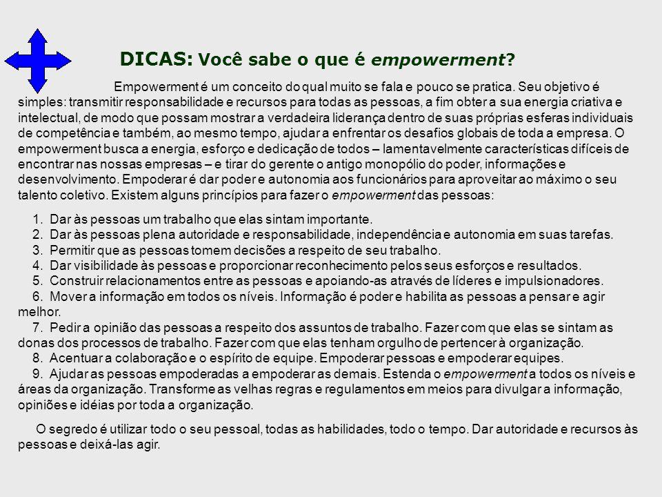DICAS: Você sabe o que é empowerment