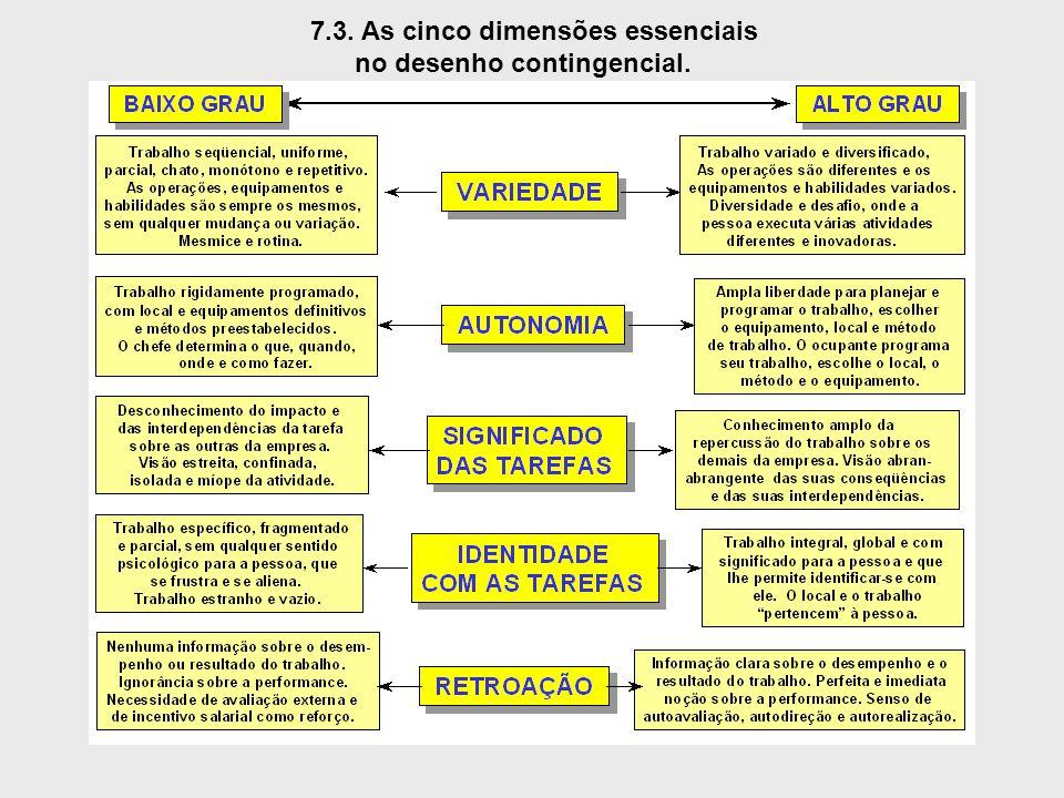 7.3. As cinco dimensões essenciais