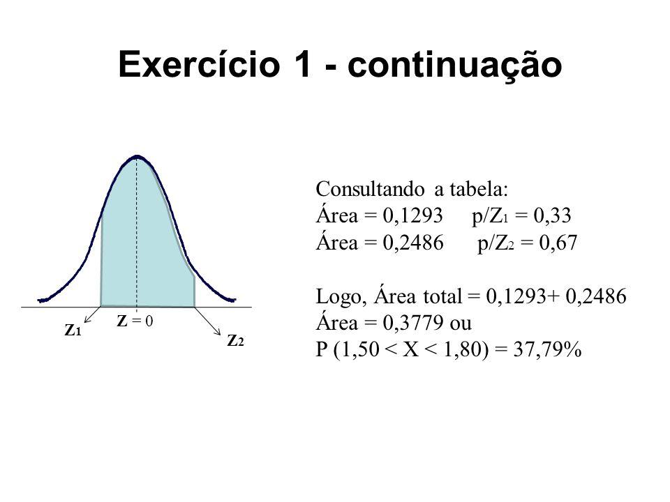 Exercício 1 - continuação