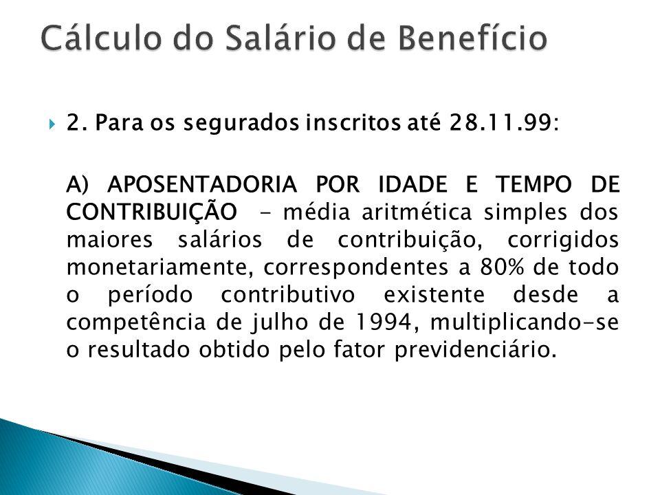 Cálculo do Salário de Benefício