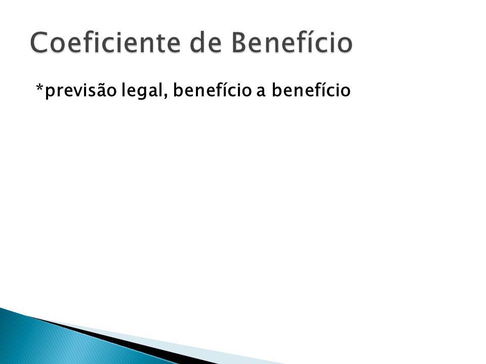 Coeficiente de Benefício
