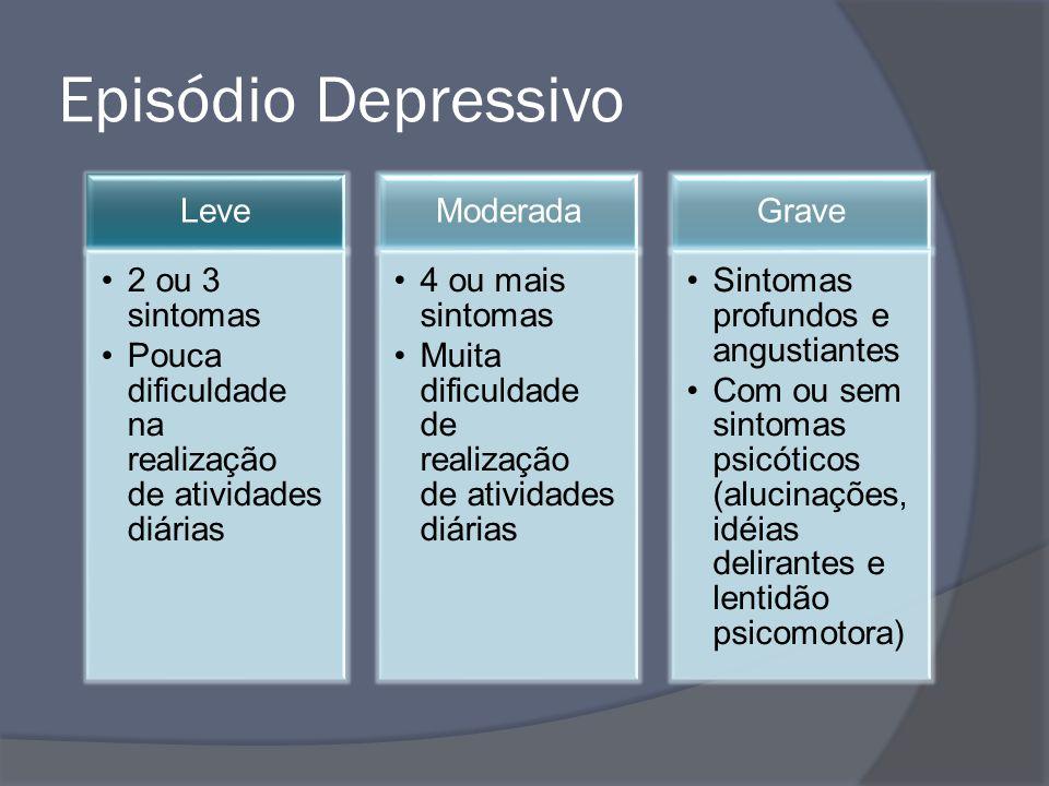 Episódio Depressivo Leve 2 ou 3 sintomas
