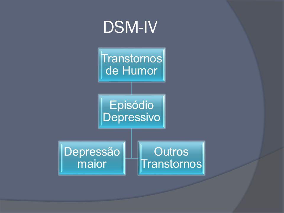 DSM-IV Transtornos de Humor Episódio Depressivo Depressão maior