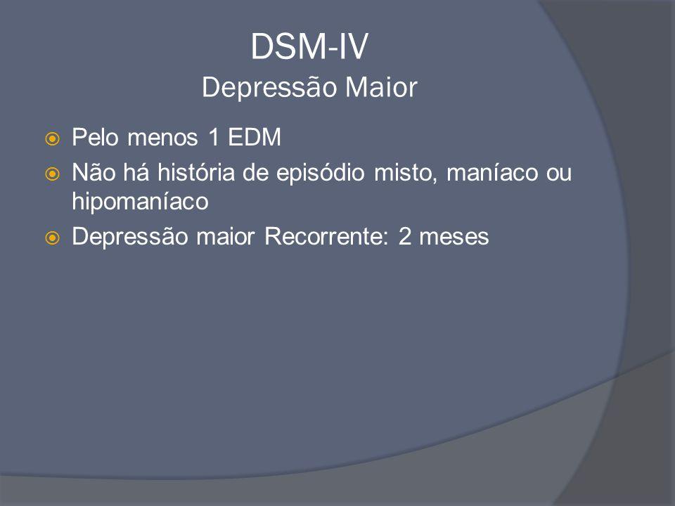 DSM-IV Depressão Maior