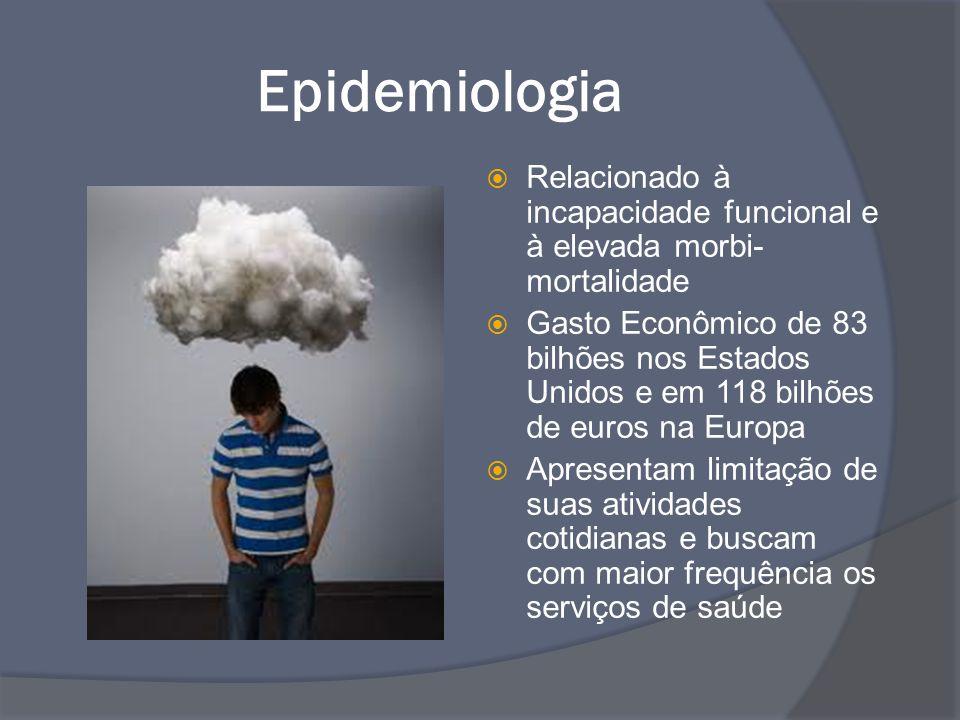 Epidemiologia Relacionado à incapacidade funcional e à elevada morbi-mortalidade.