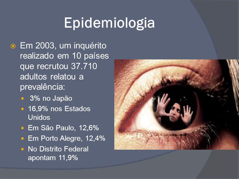 Epidemiologia Em 2003, um inquérito realizado em 10 países que recrutou 37.710 adultos relatou a prevalência: