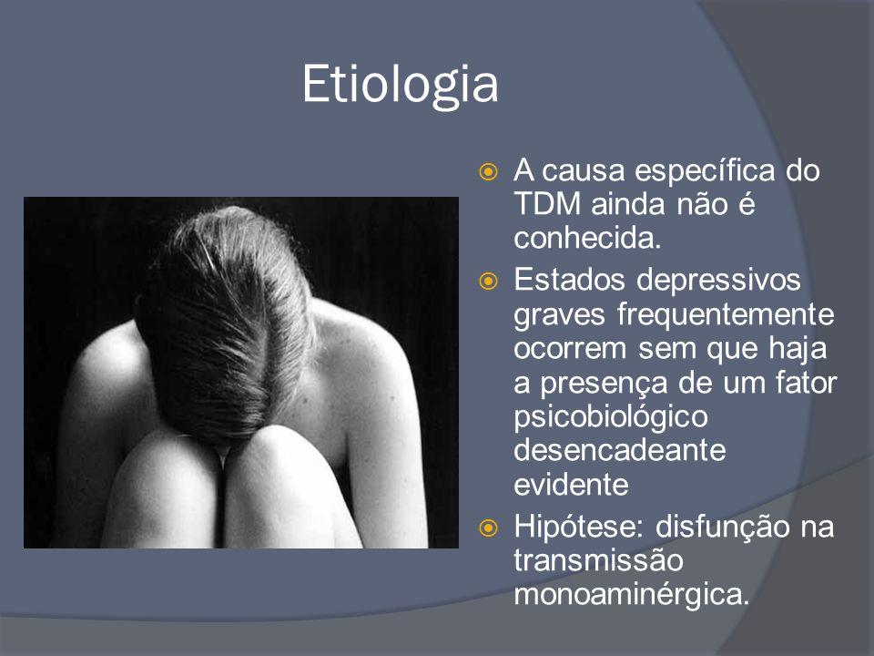 Etiologia A causa específica do TDM ainda não é conhecida.