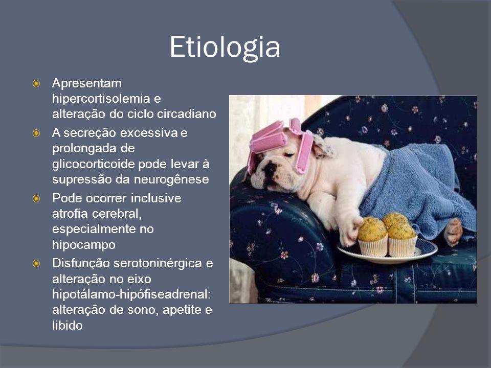 Etiologia Apresentam hipercortisolemia e alteração do ciclo circadiano